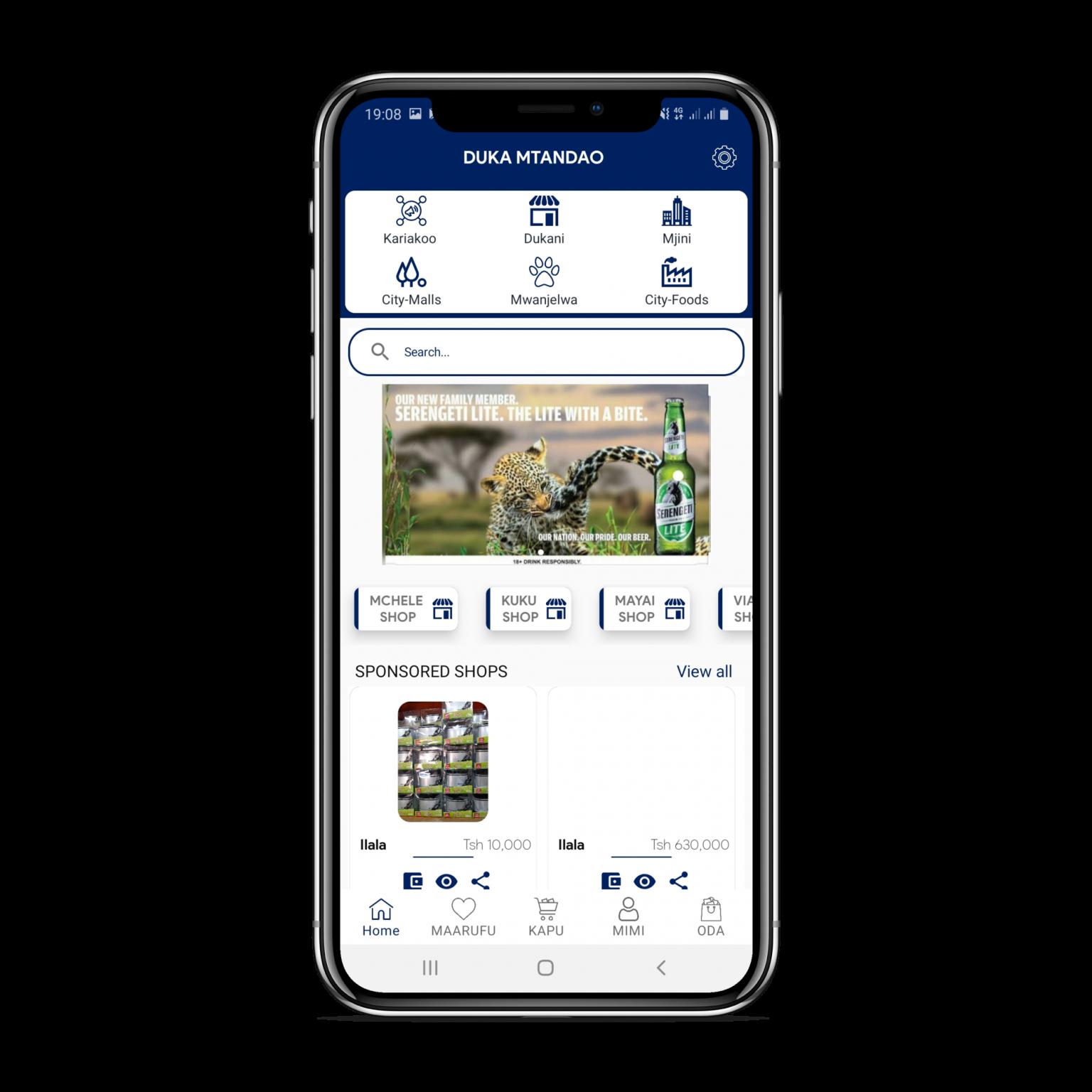 duka.com android app developed by Nougat technologies Tanzania,uza nunua ,online business africa