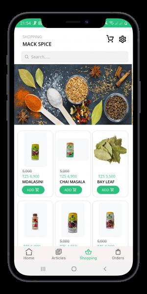mackspice mobile app developed by Nougat Technologies